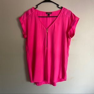 Express hot pink zipper blouse